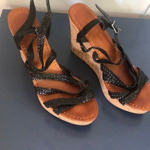 American Eagle Outfitters Woven Wedge Sandals, 10